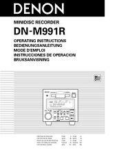 Denon DN-M991R Minidisc Recorder Owners Manual