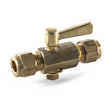 """2X NEW LPG  1/4"""" comp. x comp. lever line tap Lever operated  Plumbing"""