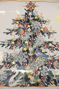 2 Williams Sonoma TWAS THE NIGHT BEFORE CHRISTMAS RECTANGULAR TREE PLATTER (S)