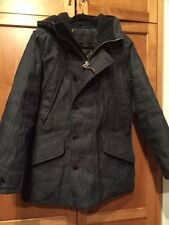 NWT $595 J CREW SZ M INDIGO BLUE COLLECTION JAPANESE DENIM BURBRIDGE PARKA COAT