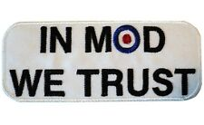 IN MOD WE TRUST RAF Roundel Scooterist Iron/ Sew On Embroidered MODS Patch