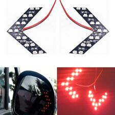 2x 14 SMD Red LED Arrow Panel For Car Rear View Mirror Turn Signal Indicator