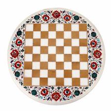 Marble Chess Game Table Top Pietra Dura Semi Precious Stone Handamde Work