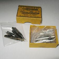 Vintage Lots 45 Dip Pen Points J.L. Isaacs Spencerian R. Esterbrook Orig Box