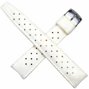 Vintage BESTFIT TROPIC 20 mm diver watch band rubber white 22522