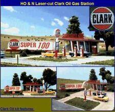 "N Scale - Clark Oil Gas Station ""Building Kit"" BLN-087"