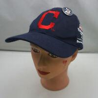 Cleveland Indians Hat Blue Kids Stitched Adjustable Baseball Cap Pre-Owned ST225