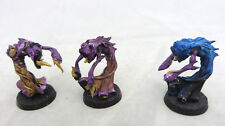 Warhammer  40K Chaos Daemon Flamers of Tzeentch army lot 3 metal demons painted