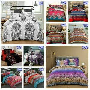 Oriental Doona Duvet Quilt Cover Set Single Double Queen King All Size Bed Linen
