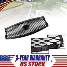 FOR 2014-17 INFINITI Q50 HIGH GLOSS BLACK OUT FRONT MESH UPPER GRILL REPLACEMENT
