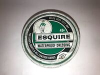 Vintage Esquire Waterproof Dressing Advertising Tin see pics, make offer!