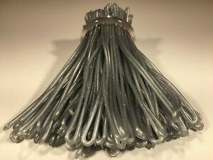 Silver Sparkle Luggage Tag worm loops 6 inch 100 per bag