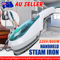 Portable Steam Iron Garment Steamer Handheld Travel Clothes Laundry Brush AU