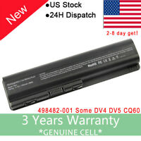 6 Cell DV4 dv5 dv6 Notebook Battery for HP 484170-001 EV06 hstnn-c51c CQ50 CQ60