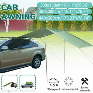 Camping Roof Top Tent Portable Car Rear Shelter Shade Awning Tents UV Waterproof