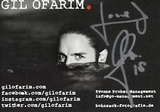 Gil Ofarim  Handsignierte Autogrammkarte Autogramm NEU signiert Original