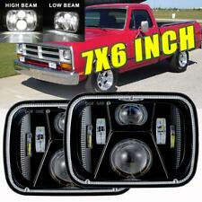 "2X DOT 220W 7x6"" 5X7 LED Headlights Hi-Lo Beam For Dodge D150 D250 D350 Ram 50"