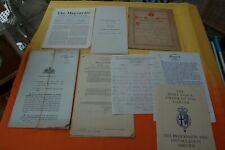 Job Lot Documents/Ephemera 1920s-1991