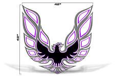 "42"" X 42"" Firebird Hood Graphic Decal Sticker For Pontiac Trans Am PURPLE GREY"