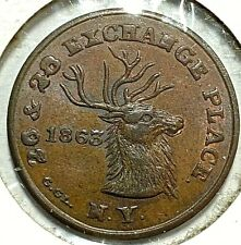 Civil War Store Card 1863 NYC, NY - Edwd. Schulze's Restaurant 630BO-2a BU