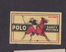 Ancienne  étiquette  allumettes  Belgique BN14584 Polo Cheval Sport