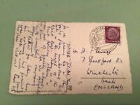 Germany 1935 Titisee cancel stamps card   ref 50578