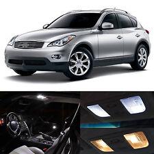 2008-2012 EX35 EX-35 White Interior + License Plate LED Lights Package Kit