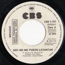 """MECANO """"HOY NO ME PUEDO LEVANTAR"""" SPANISH PROMO 7"""" VINYL / ANA TORROJA - CANO"""