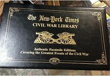 NEW YORK TIMES CIVIL WAR LIBRARY GREATEST EVENT OF AUTHENTIC FACSIMILE EDITIONS