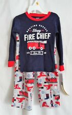 BOYS 5T SLEEPY FIRE CHIEF PAJAMA SET FLEECE PANTS L/S SHIRT  NWT ~ CARTER'S