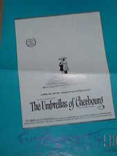 "Catherine Deneuve signed ""The Umbrella of Cherbourg"" Program 5 pages 4 Signatur."