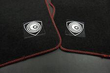 4 Pcs Red Trim Front Rear Nylon Floor Mats Rotary Emblem For 04-10 Mazda RX-8