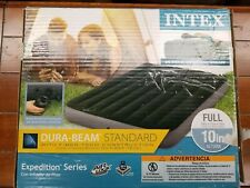 "Intex Full 10"" DuraBeam Expedition Airbed Mattress with Battery Pump New Open bo"