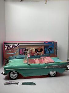 Vintage Barbie 57 Chevy Bel Air Convertible Car in Original Mattel Box READ