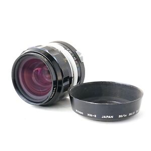 Nikon Nikkor O.C 35mm f/2 MF F-mount Non-Ai wide angle SLR Lens for Nikon F oc