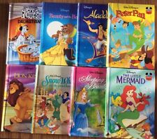 Disney's Wonderful World Of Reading Books Glossy Hardcover From 90s 8 Books