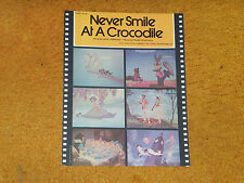 DISNEY '73 sheet music Never Smile at a Crocodile from PETER PAN film 3 pp. (NM)