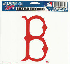 """BOSTON RED SOX MLB LICENSED 5""""X6"""" ULTRA CLING DECAL MADE IN THE USA"""