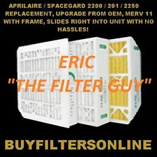 4 AIR FILTERS APRILAIRE SPACEGARD 20X25X6 MDLS 201 2200