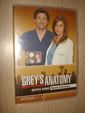 DVD GREY'S ANATOMY QUINTA SERIE DISCO 1 EPISODI 1-4