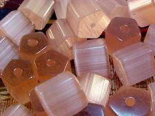 Vtg 50 ATLAS FACETED ROSE PINK GLASS SPACER BEADS 8mm! #062112y