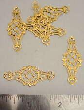 Raw Brass Ornamental Jewelry Stampings 1 dozen