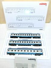 "NEW MARKLIN HO ART.41893 SET DI 3 CARROZZE TRENI RAPIDI ""FS"" BOX ORIGINALE"