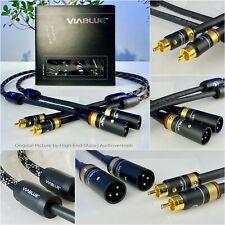 High End Audiokabel: ViaBlue NF-S1 Silver RCA / Chinch > XLR-M Mono Paar Neu!