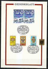 Germany IVA'1979 Gedenkblatt international Exhibition. Cars,trains,coat of arms