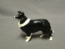 """Collectable Beswick Border Collie Dog - Black & White - 3"""""""