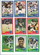 1989 Score San Diego Chargers Football Card Set W/Supplemental Cards (13 Diff)