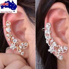 Screw Back (pierced) Rhinestone Cuff Fashion Earrings