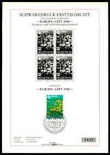 SCHWEIZ SD SCHWARZDRUCK-ETB 1988 EUROPA CEPT KOMMUNIKATION BLACK PRINT LTD ze31