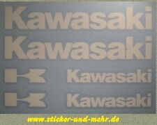Kawasaki Autocollant Moto Tank Sticker Lettrage-Blanc mat -